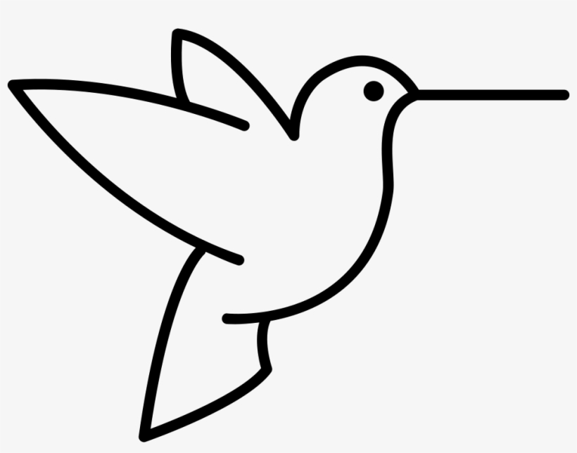 Humming Bird Outline From Side View Svg.