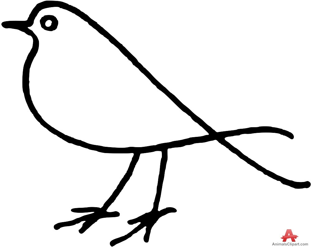 Bird outline clipart 4 » Clipart Portal.