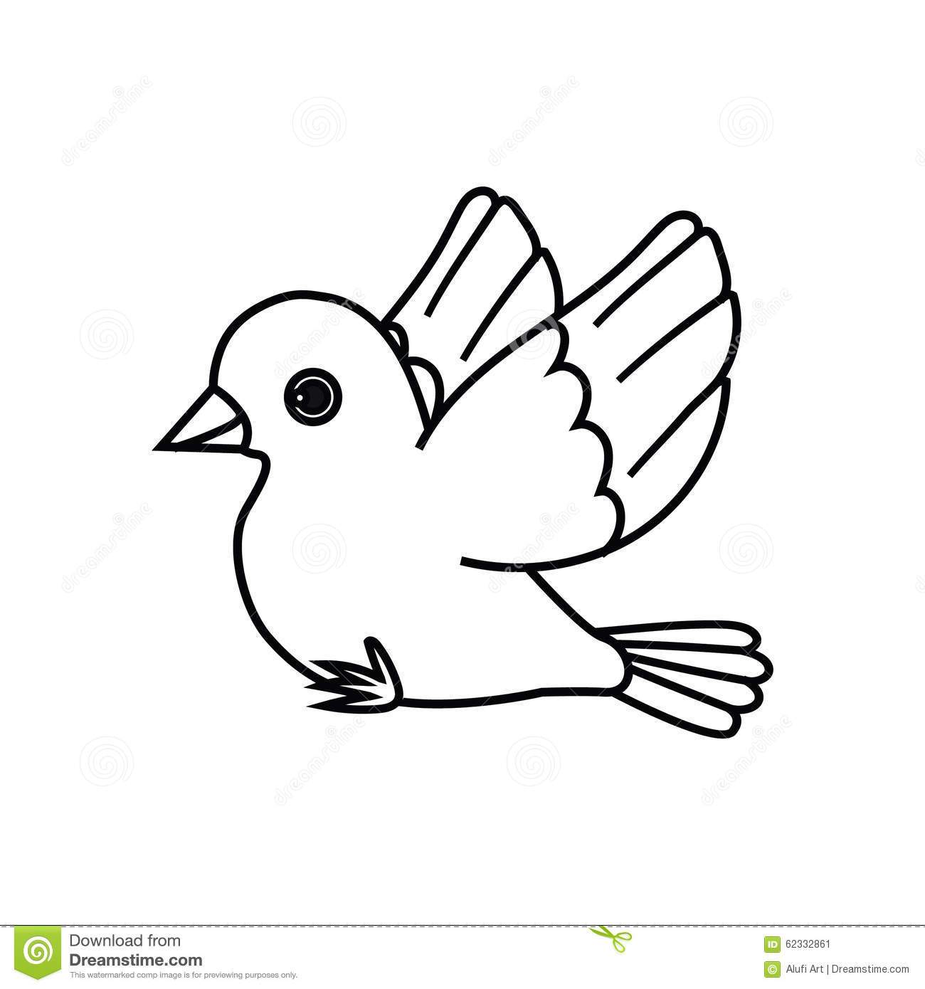 Bird outline clipart 1 » Clipart Portal.