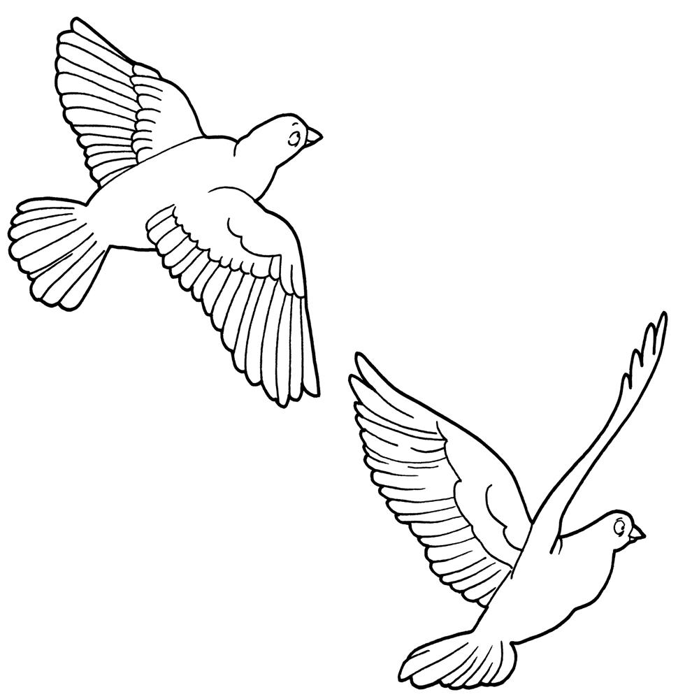 Birds flying clip art.