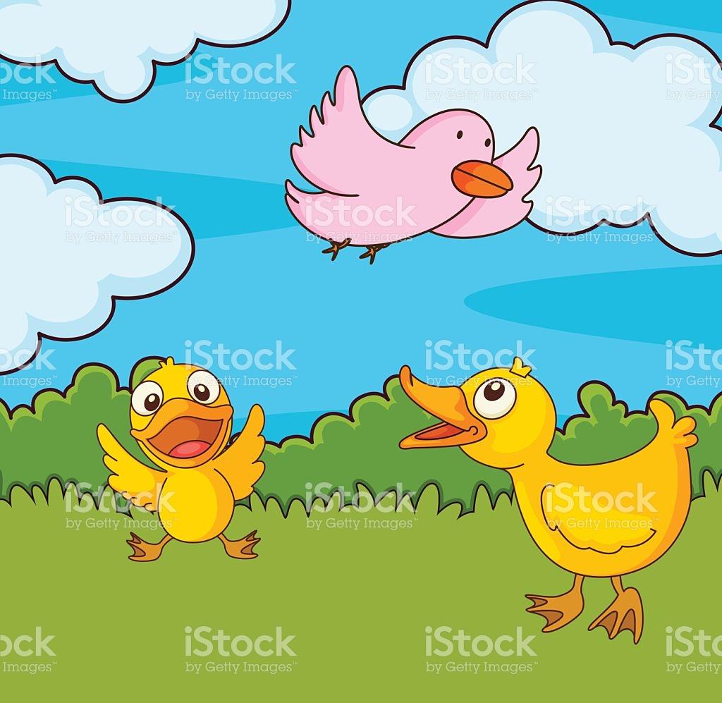 Bird In A Field stock vector art 492866615.