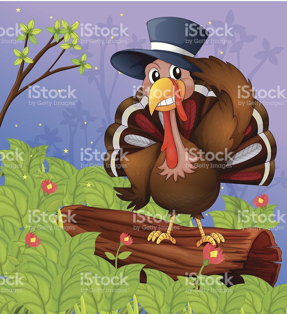 Bird Standing On A Dry Wood stock vector art 186292796.