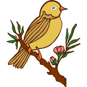 Perched bird (colour) clipart, cliparts of Perched bird.