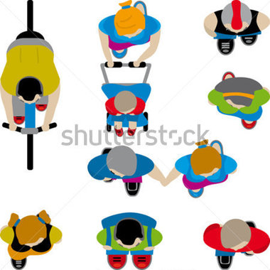 Birds Eye View Perspective Clipart.