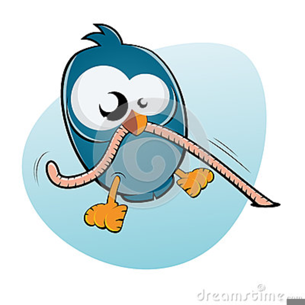Bird And Worm Clipart.