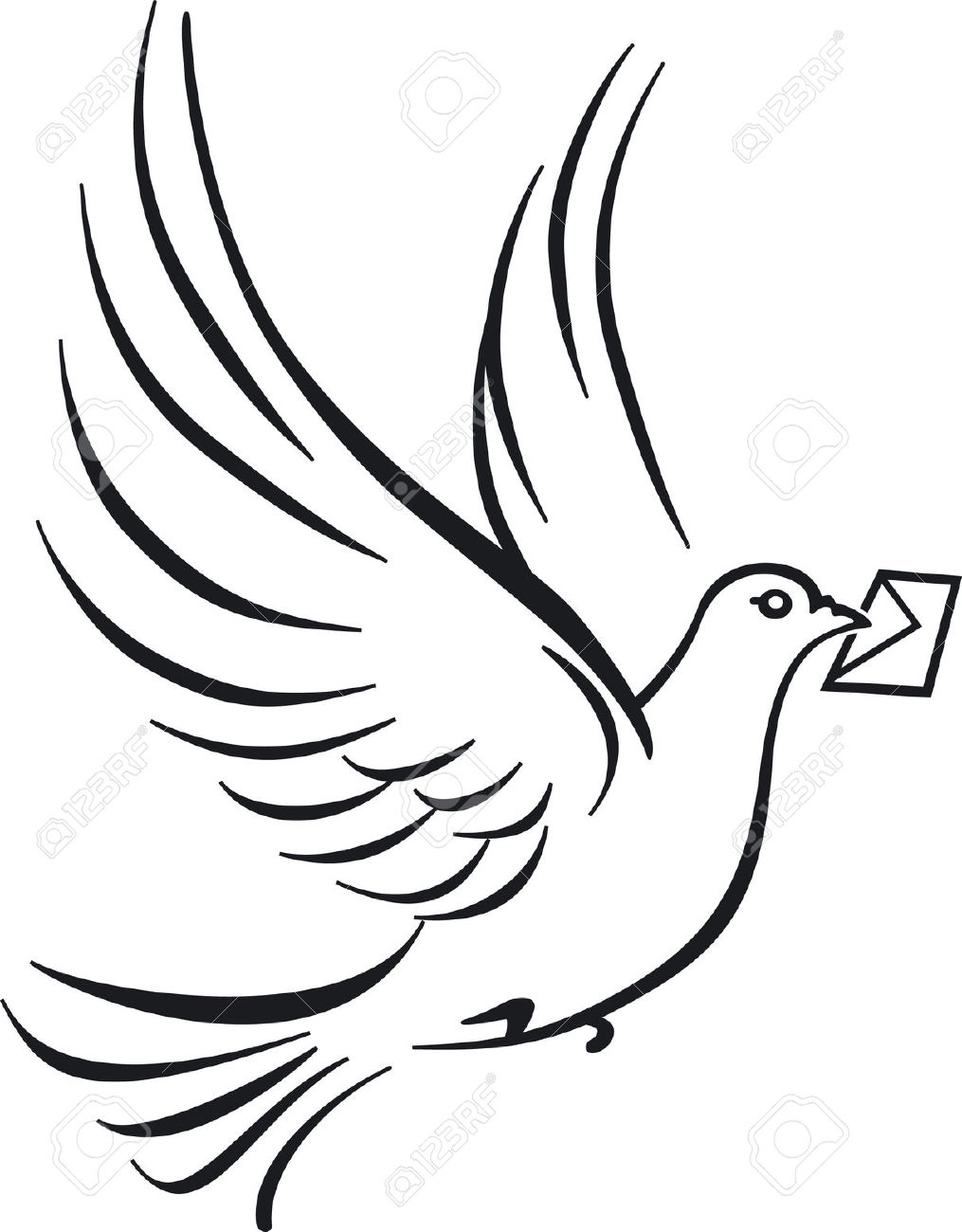 Carrier Pigeons Royalty Free Cliparts, Vectors, And Stock.