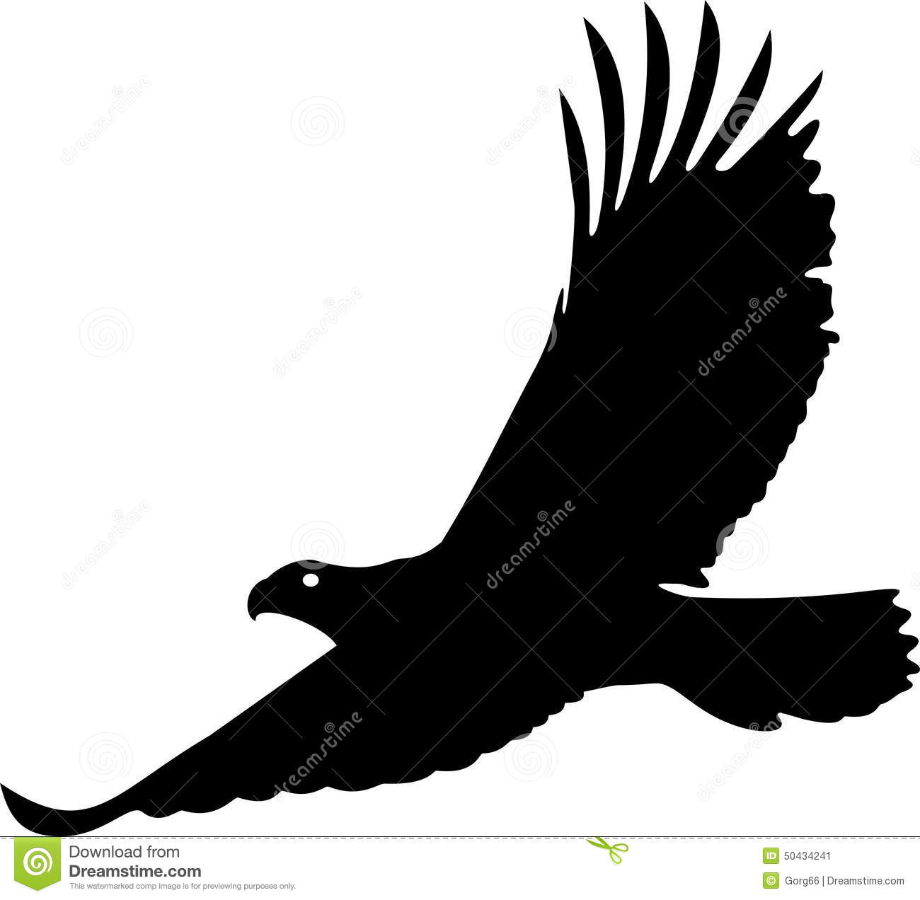 Birds of prey clipart black and white.