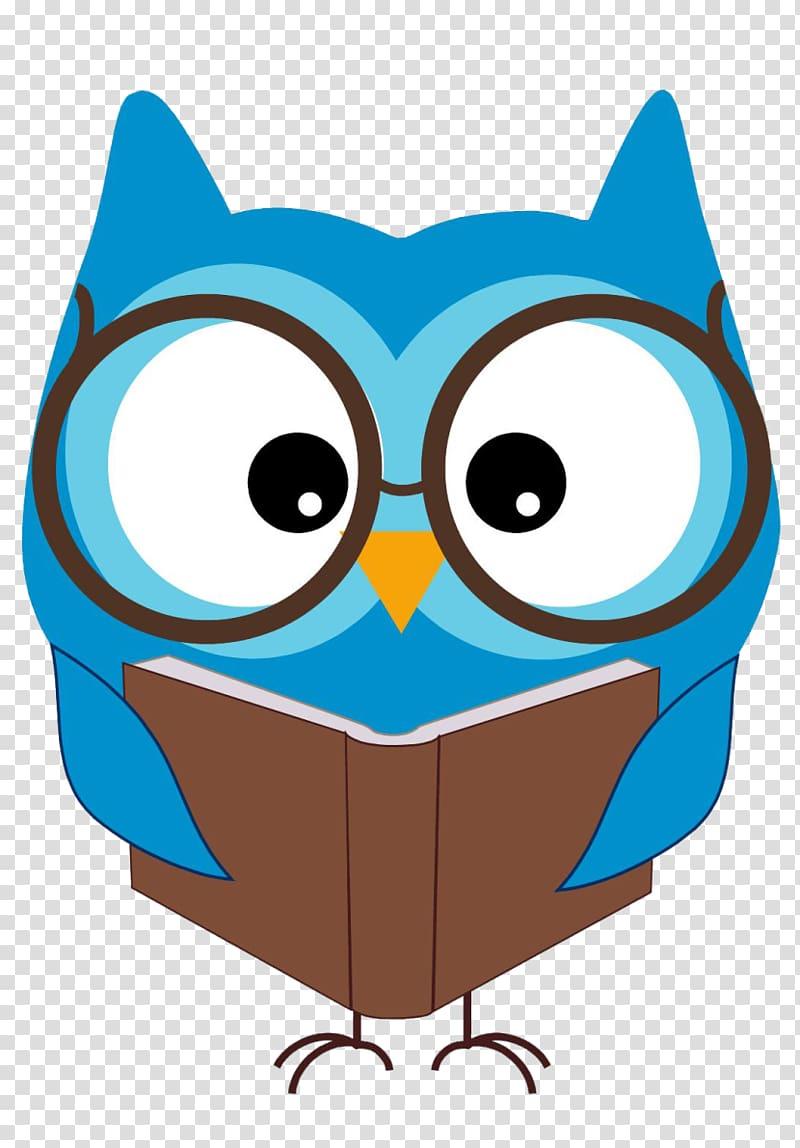 Blue bird reading book art, Book Reading , Book transparent.