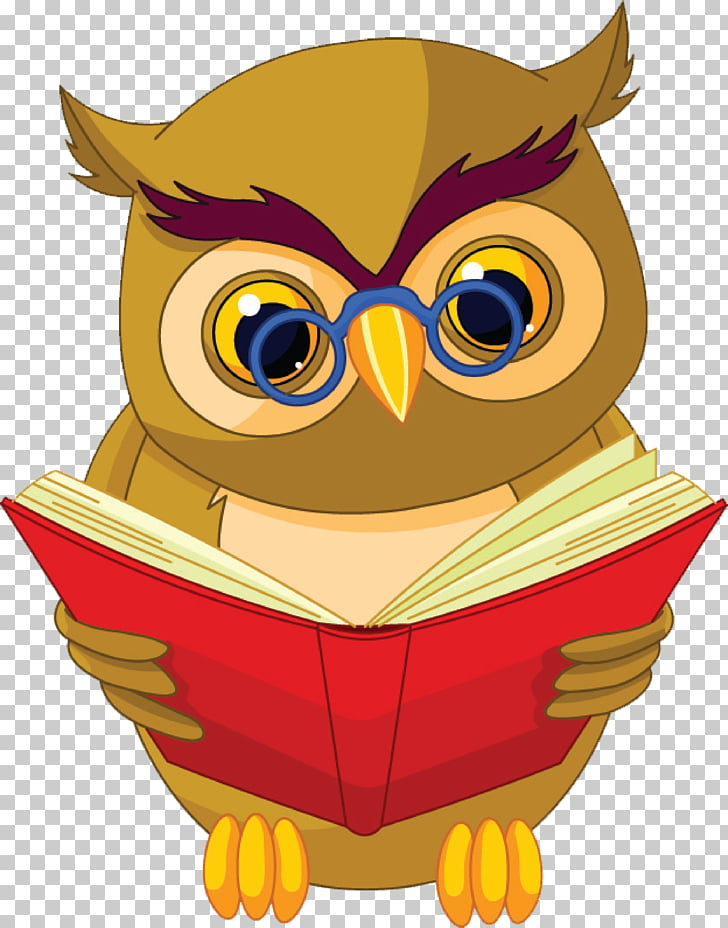 Owl Book Stock photography , Owl will read, owl reading.