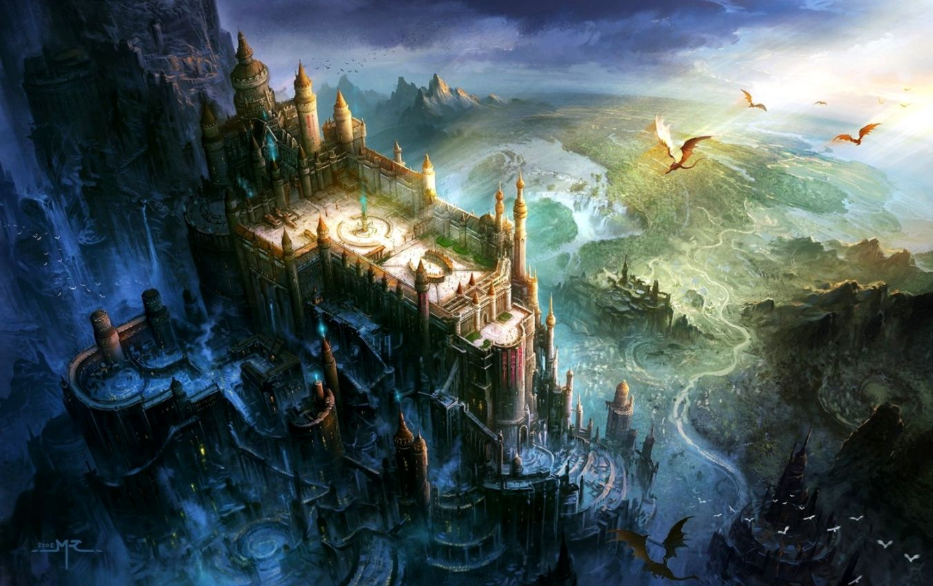 Fantasy Castle Landscape Wallpaper.