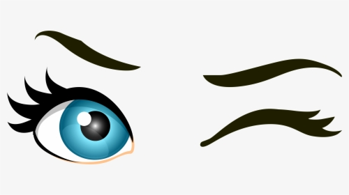 Brown Winking Eyes Png Clip Art.
