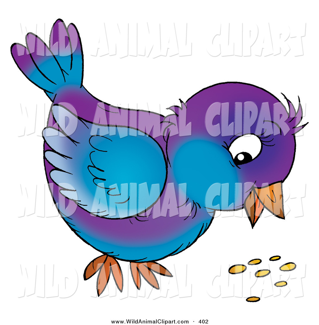 Bird eating clipart.