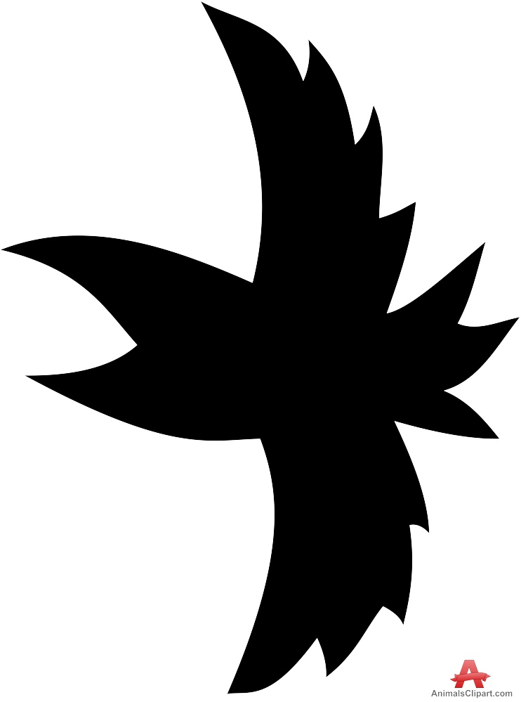 Bird Shape Flying Silhouette.