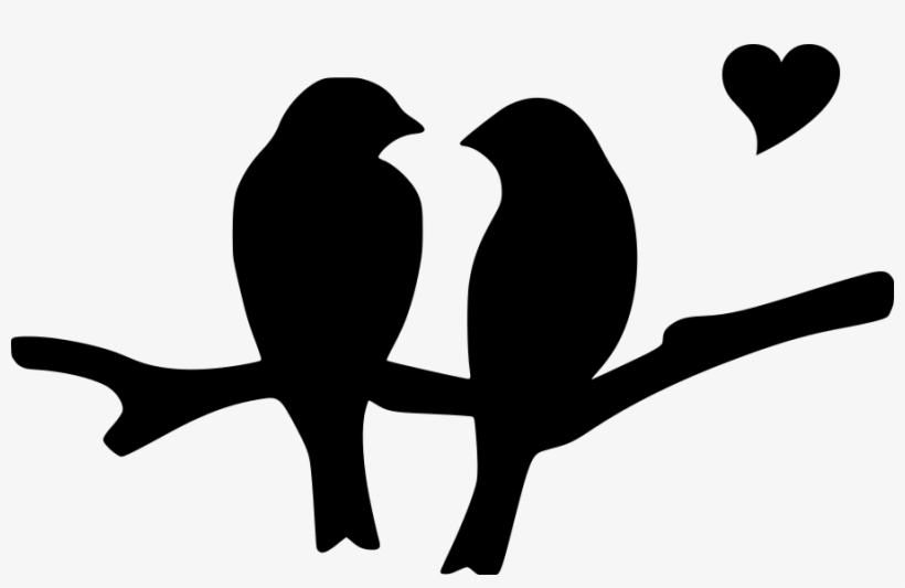 Love Birds Silhouette Png Download.