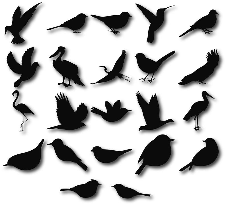 Birds Silhouettes, Birds clipart, Birds svg, Bird Silhouette Clip Art, Bird  Silhouette, Digital Birds Clipart, Flying Birds.