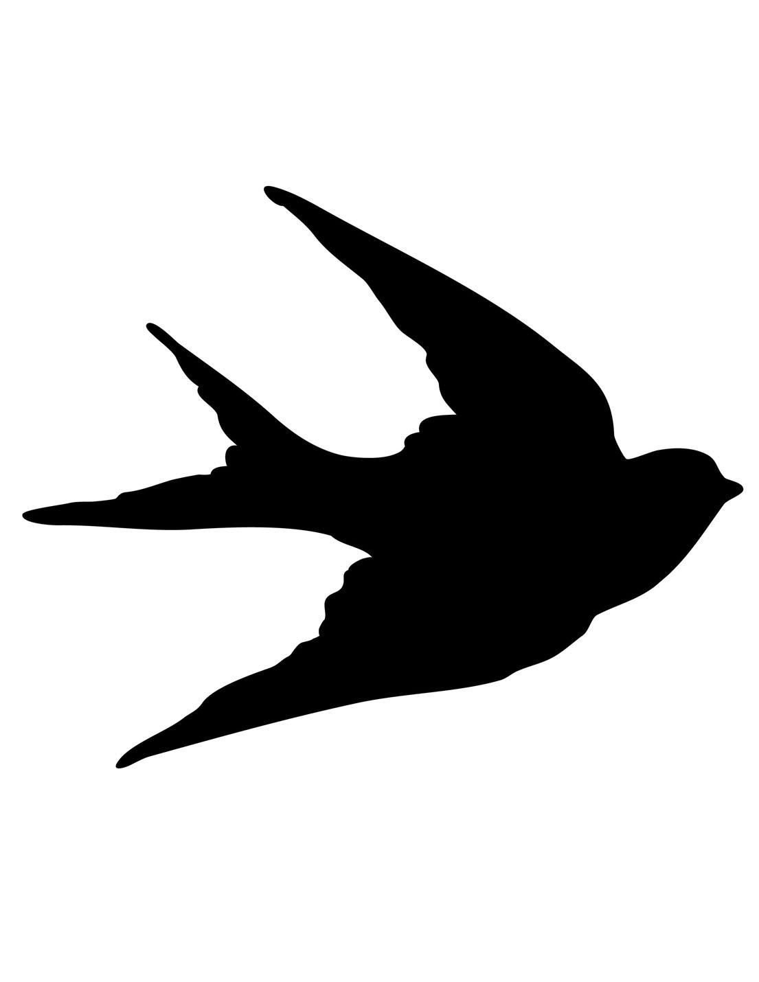Bird Silhouette Clip Art.