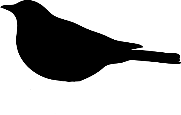 Bird Clipart Black And White Silhouette.