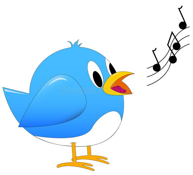 Bird Singing Stock Illustrations.