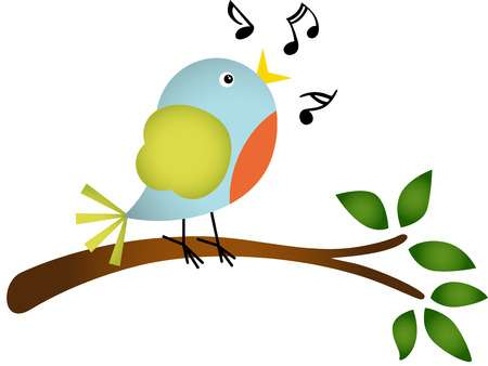 3,450 Singing Bird Stock Vector Illustration And Royalty Free.