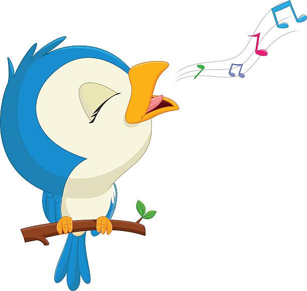 Best Bird Singing Illustrations, Royalty.
