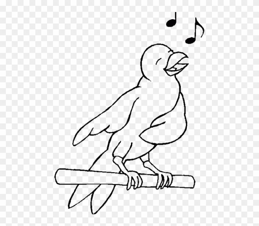 Sing Cheerfully Birds Coloring Pages Clipart (#2552019.