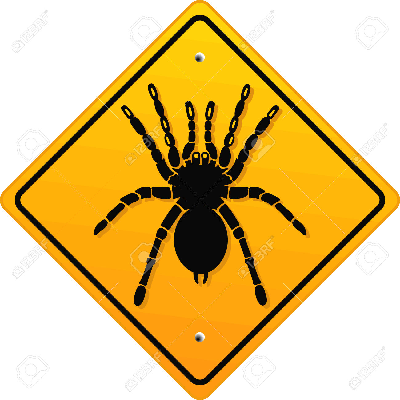 Warning Bird Spider Royalty Free Cliparts, Vectors, And Stock.