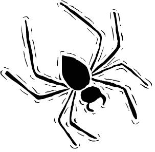 Free Halloween Spider Clipart.