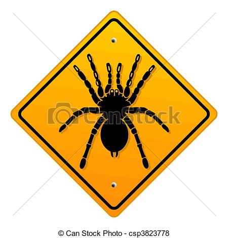 Vector of warning bird spider csp3823778.