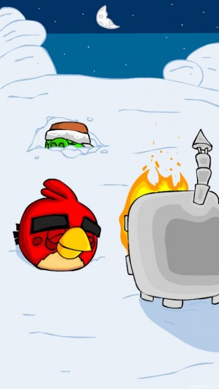 Comic Themed Angry Birds Holiday Wallpaper Collection.