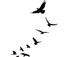 Flock Of Birds Tattoo.