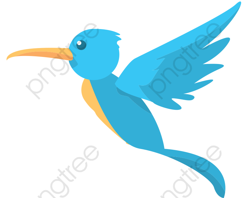 Transparent blue flying bird vector PNG Format Image With Size 789.