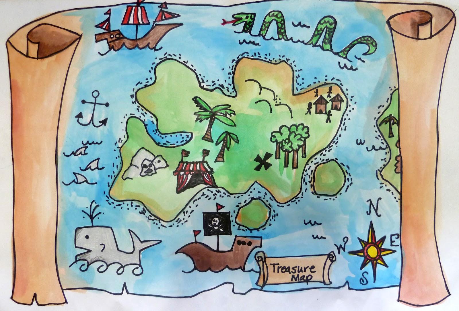 Kids Treasure Map Background Bird S Eye View Clipart Kid Jbimnb.