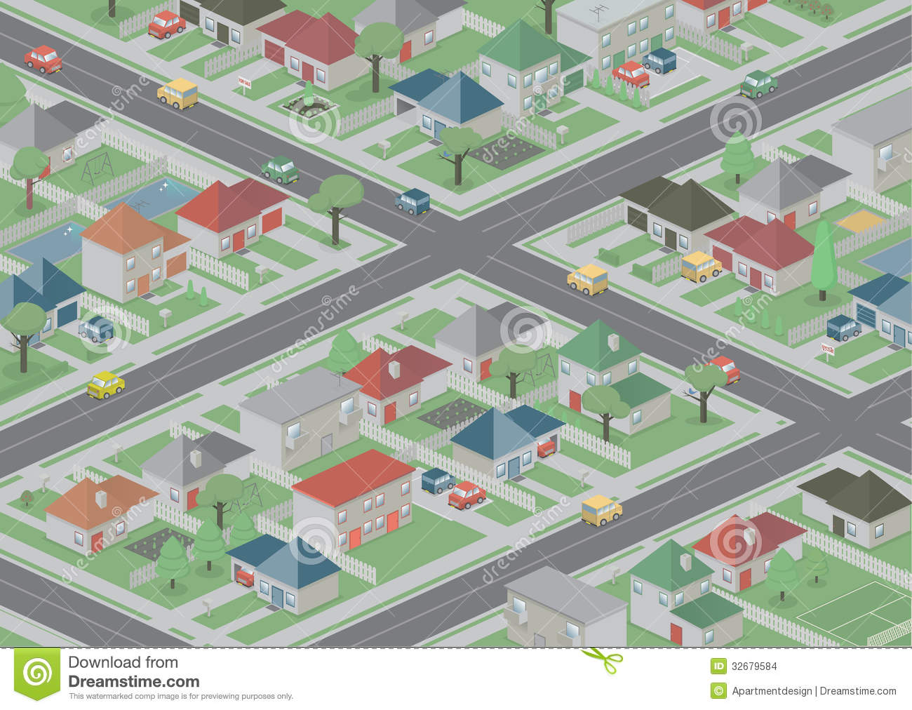Suburbia Stock Images.