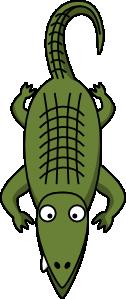 Alligator bird eye view clipart.