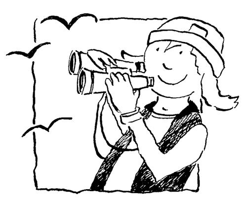 Birdwatching Clip Art.