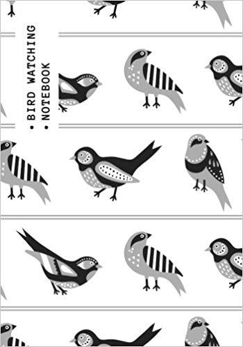 Bird Watching Notebook: Black & White Logbook Journal Diary.