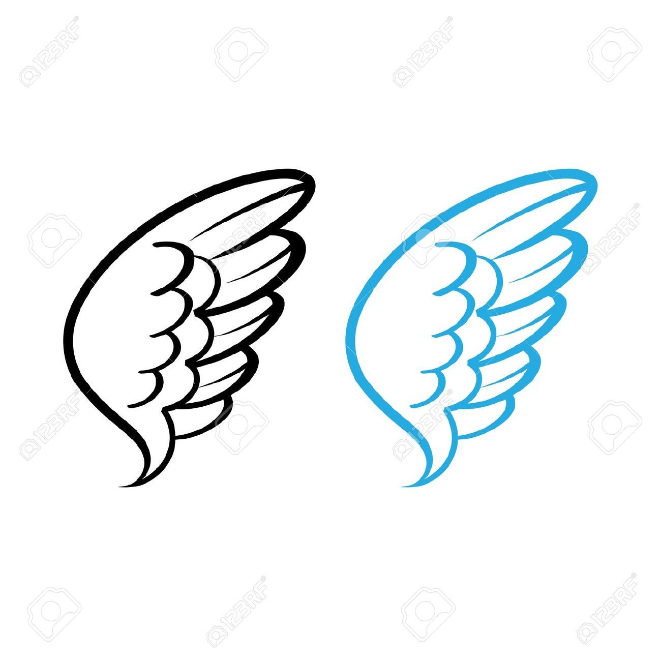 simple illustration of angels.
