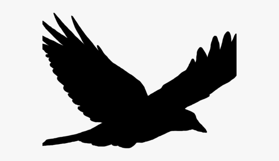 Raven Clipart Outstretched Wing.