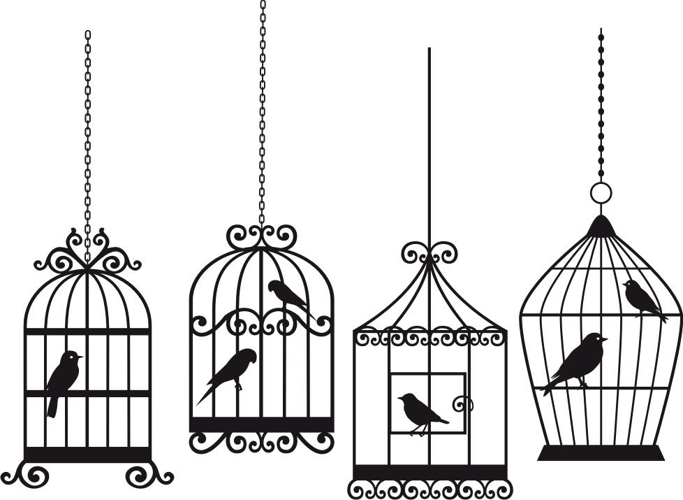Victorian Bird Cage Clipart.
