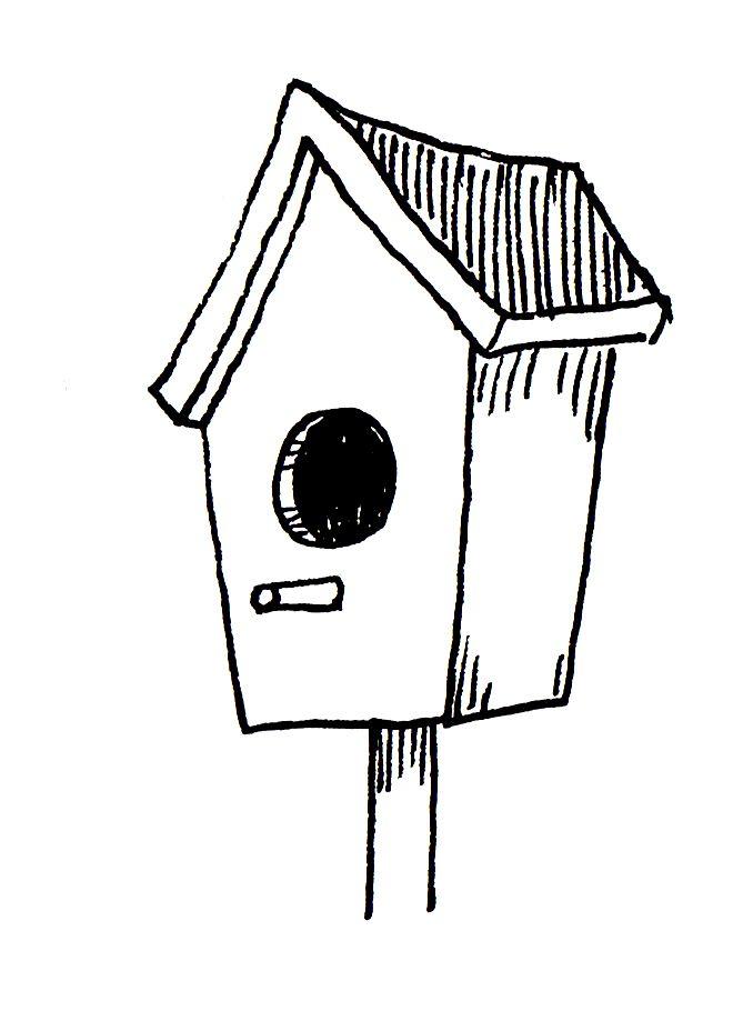 zentangle bird houses.