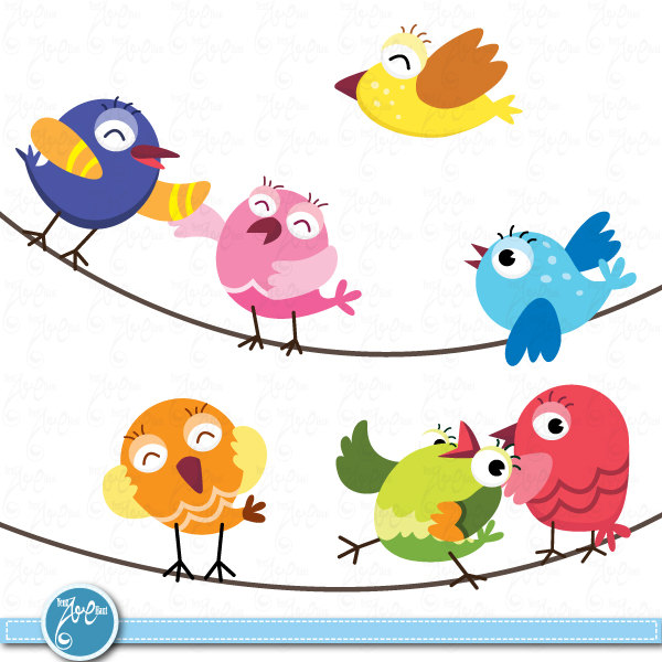 Clipart images of birds.