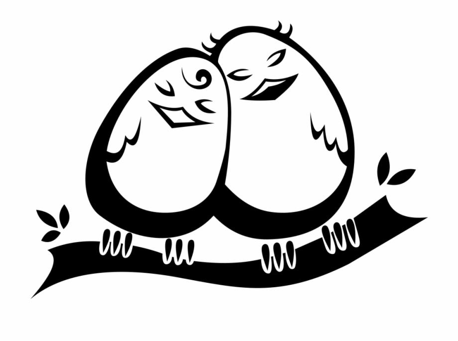 Snuggling Love Birds.