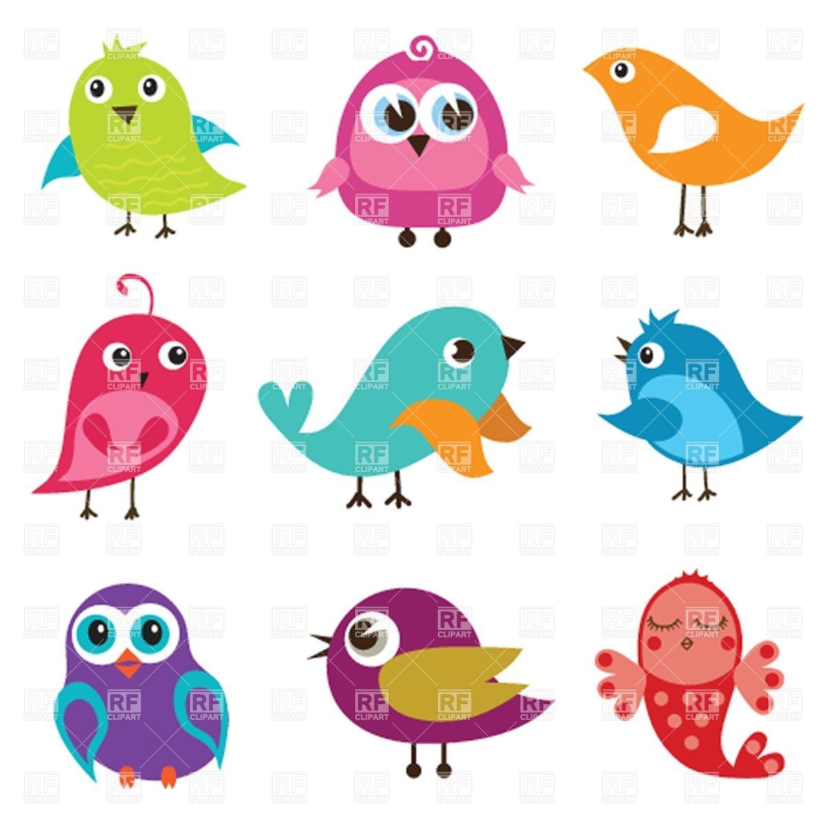 Cute Cartoon Bird Clipart Free.
