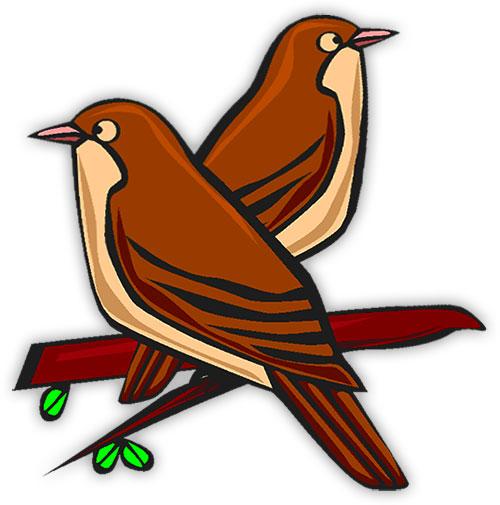 12054 Birds free clipart.