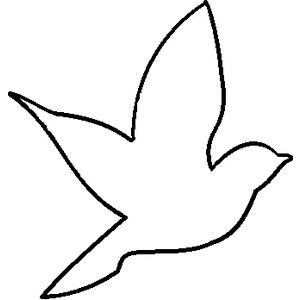 Outline of birds clipart.