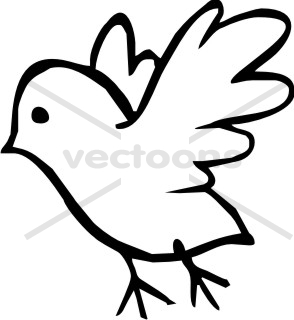 clipart bird outline #6