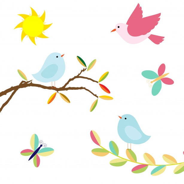 Birds Clipart Illustration Free Stock Photo.