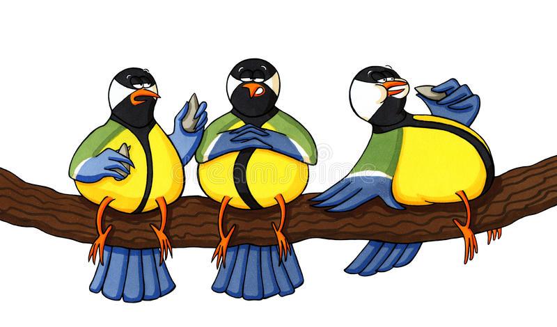 Birds Eating Stock Illustrations.