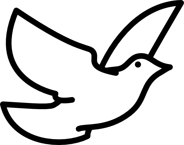 Flying Dove Outline Clip Art at Clker.com.