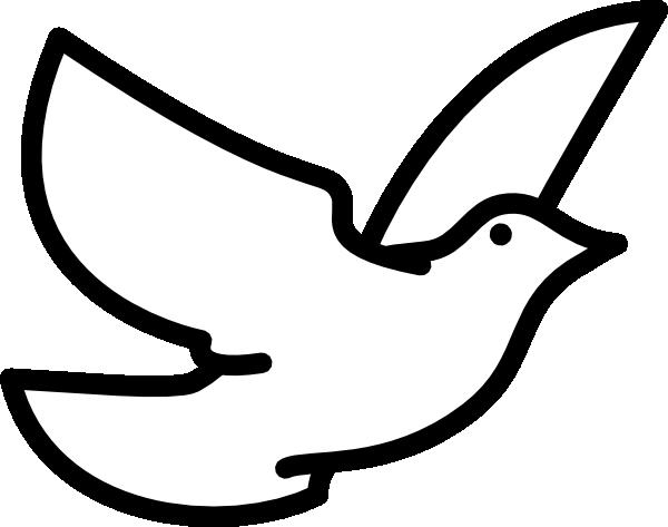 Flying Dove Outline Clip Art at Clker.com.